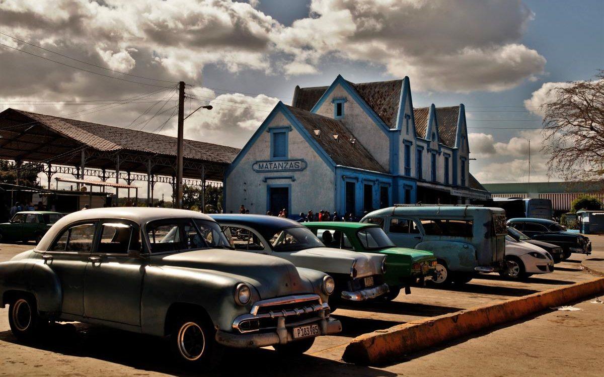 Sammeltaxis am Viazul-Busbahnhof Matanzas (2020)